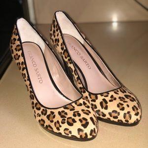 Franko sarto leopard heels brand new